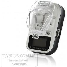 Зарядное (с LED индикацией уровня заряда) для батарей мобильных телефонов (жабка) + USB