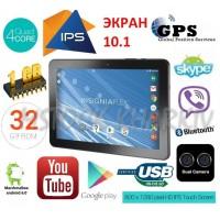 Огромный игровой планшет-навигатор GPS из США! IPS 10.1! 4 ядра Intel! 1\32 Гб! Android 6\7! Стерео!