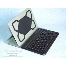 Фирменный (EDGE) чехол книжка универсальный для планшетов 7-8 дюймов с Bluetooth клавиатурой с подсветкой
